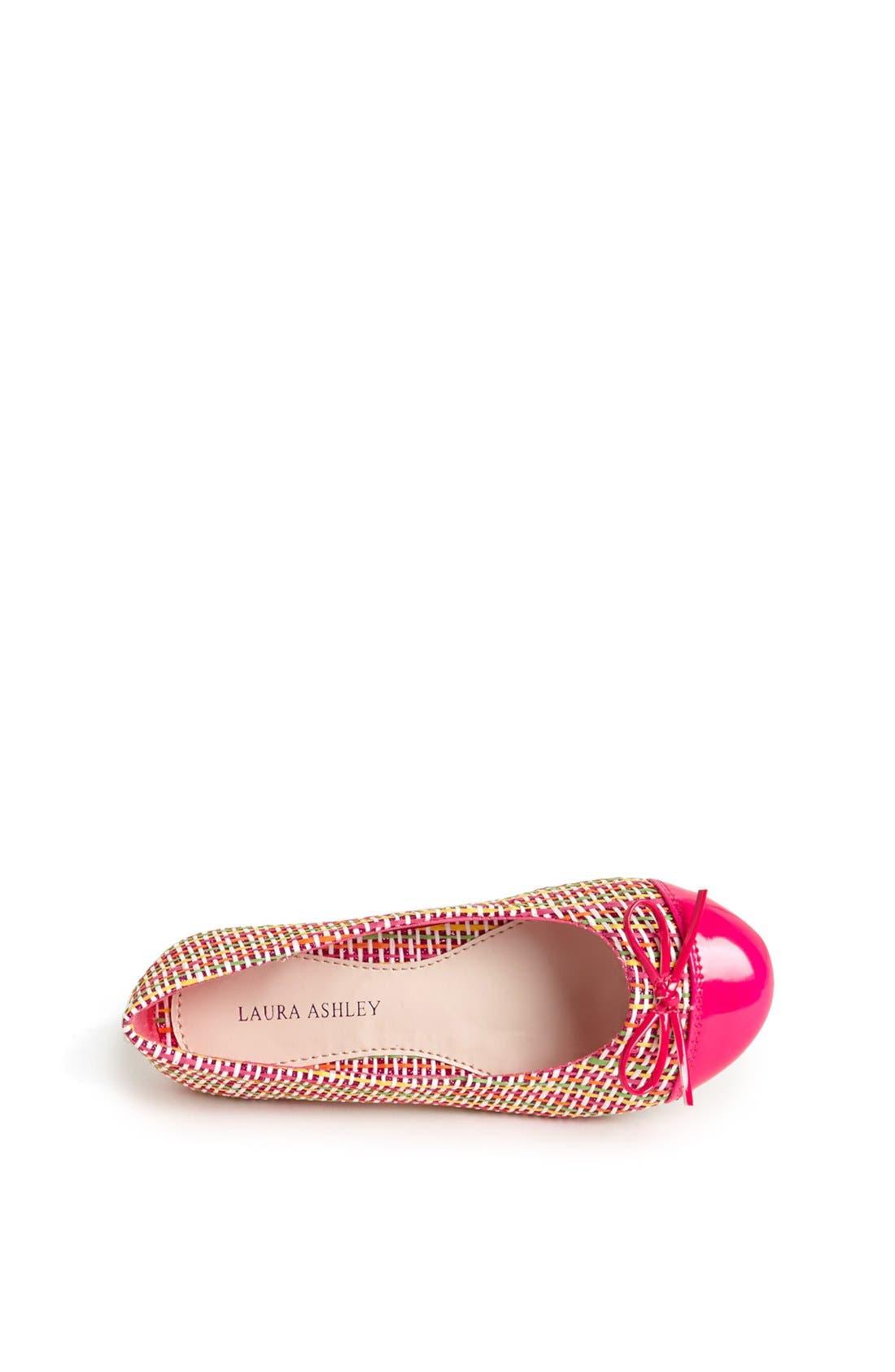 Alternate Image 3  - Laura Ashley 'Tweed' Ballet Flat (Toddler, Little Girls & Big Girls)