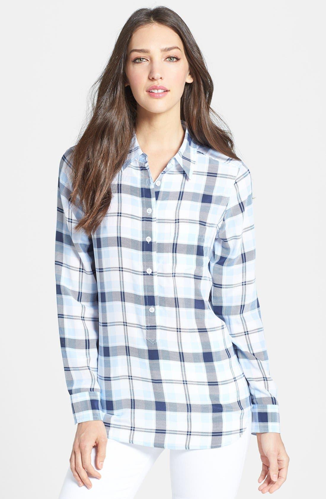 Alternate Image 1 Selected - Equipment 'Capri' Plaid Silk Shirt