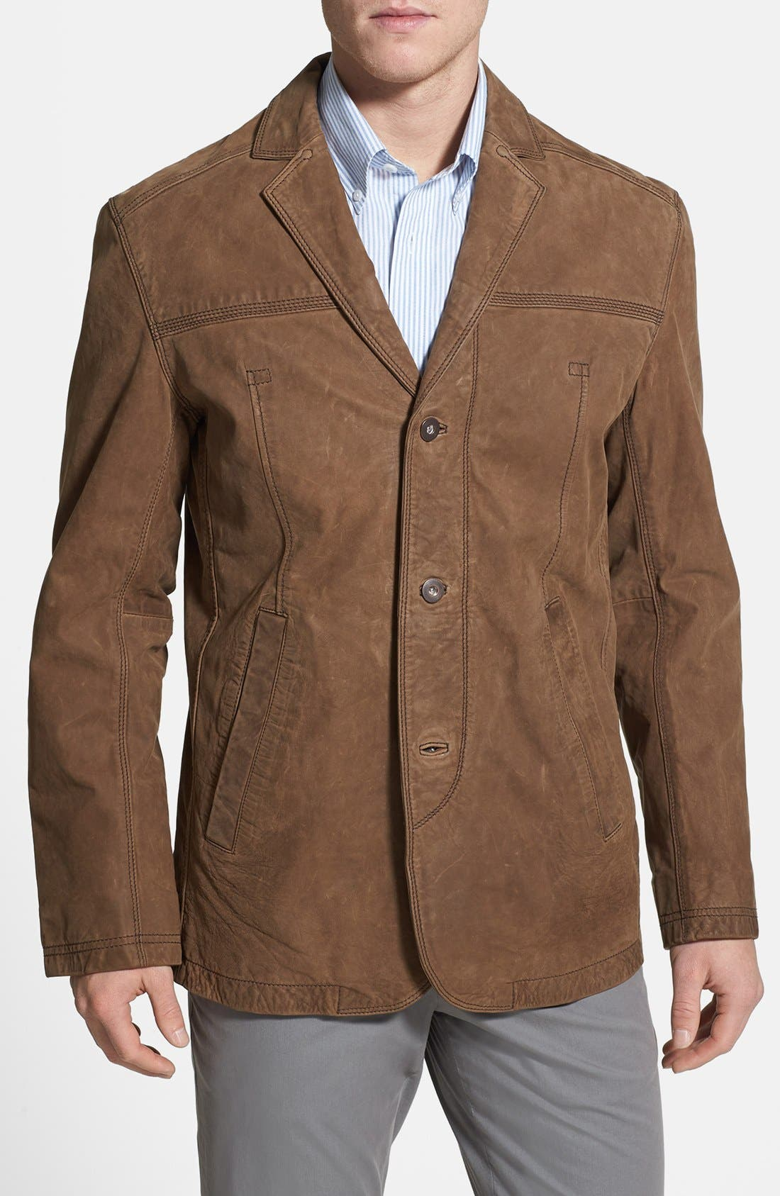 Alternate Image 1 Selected - Timberland 'Bayview' Nubuck Leather Sport Coat