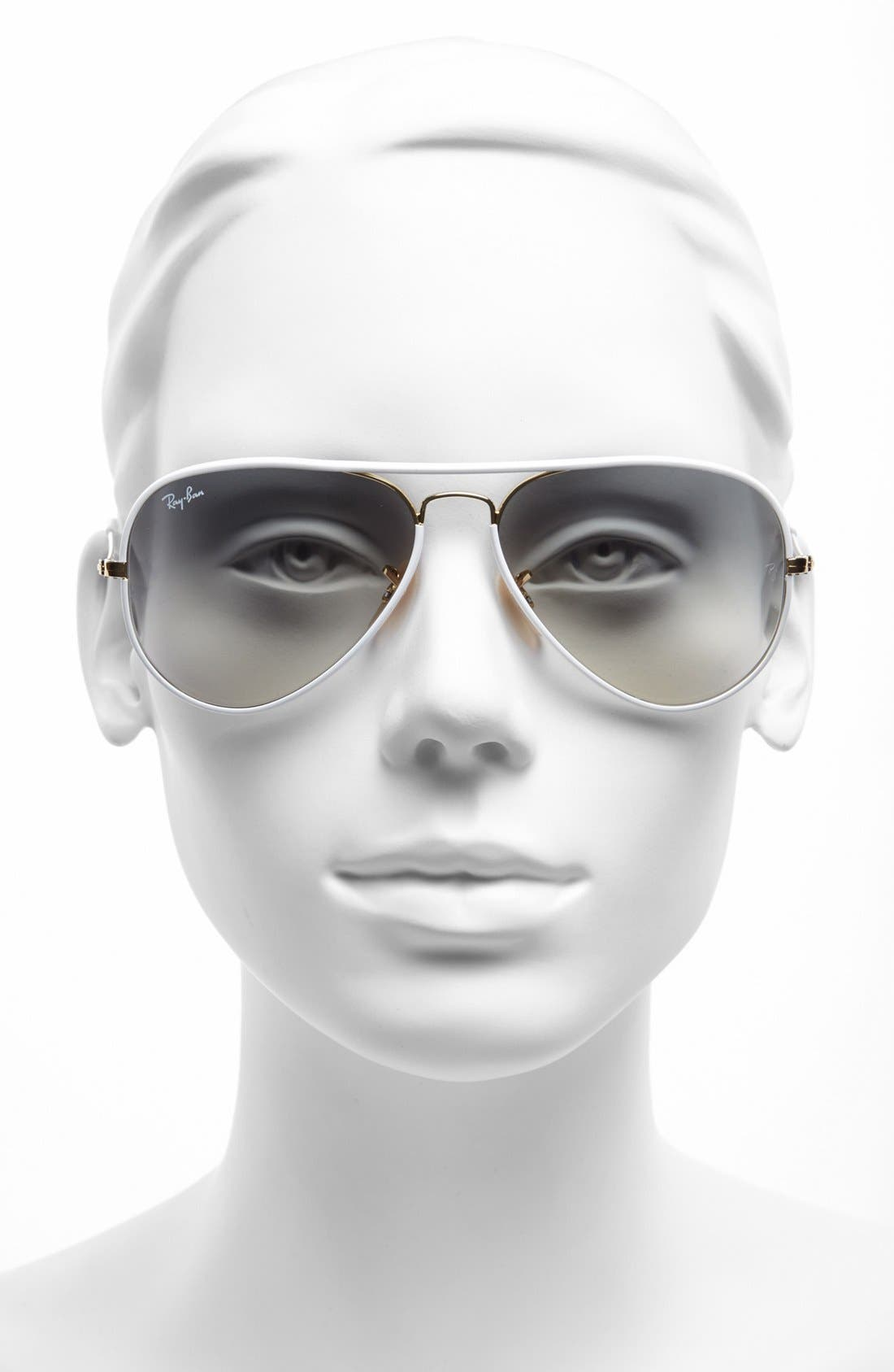 Alternate Image 2  - Ray-Ban Aviator 58mm Sunglasses