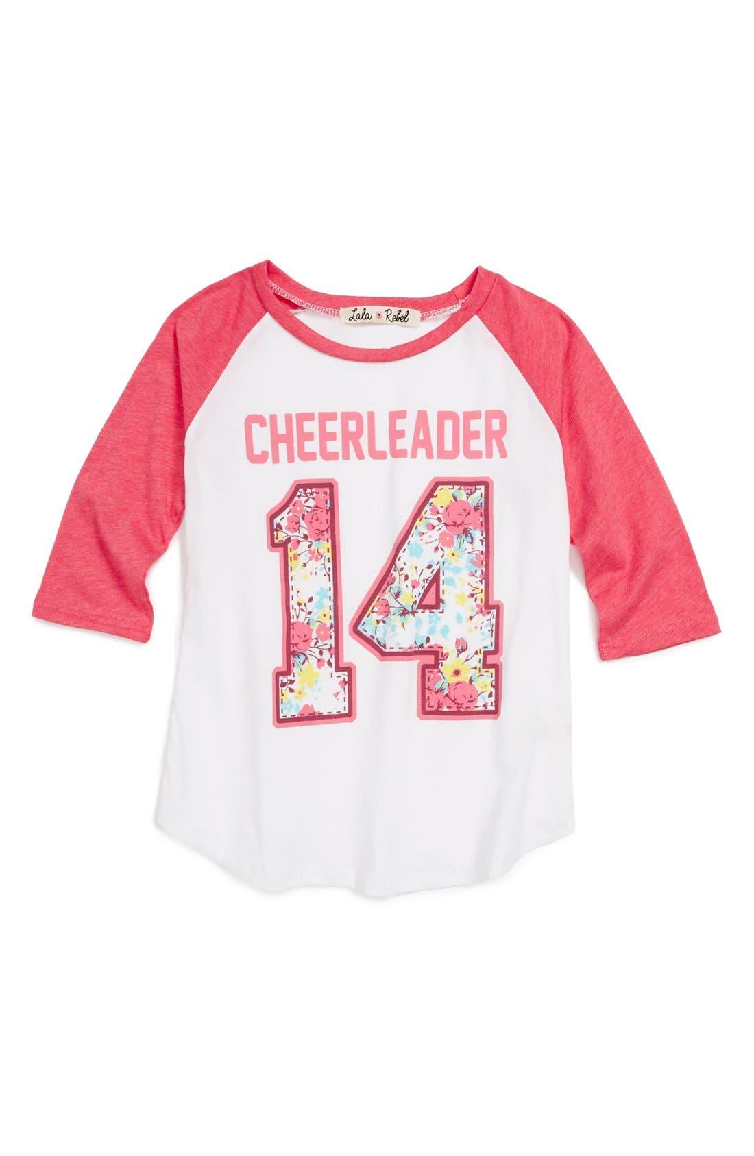 Main Image - Lala Rebel 'Cheerleader' Tee (Toddler Girls)