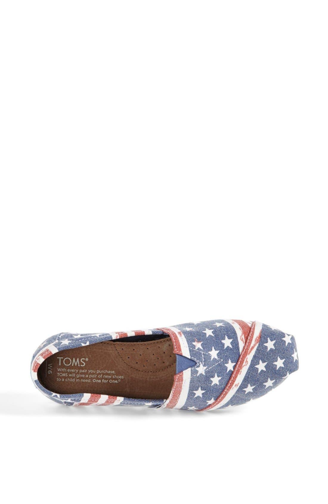 Alternate Image 3  - TOMS 'Classic - American' Slip-On (Women)