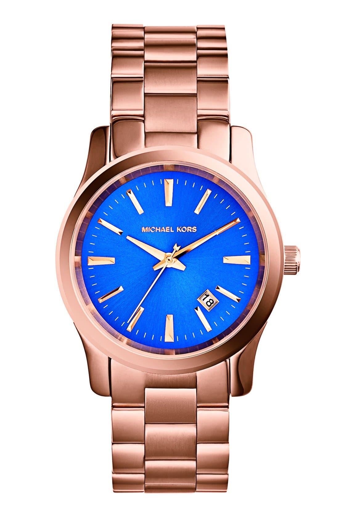 Alternate Image 1 Selected - Michael Kors 'Runway' Round Bracelet Watch, 38mm