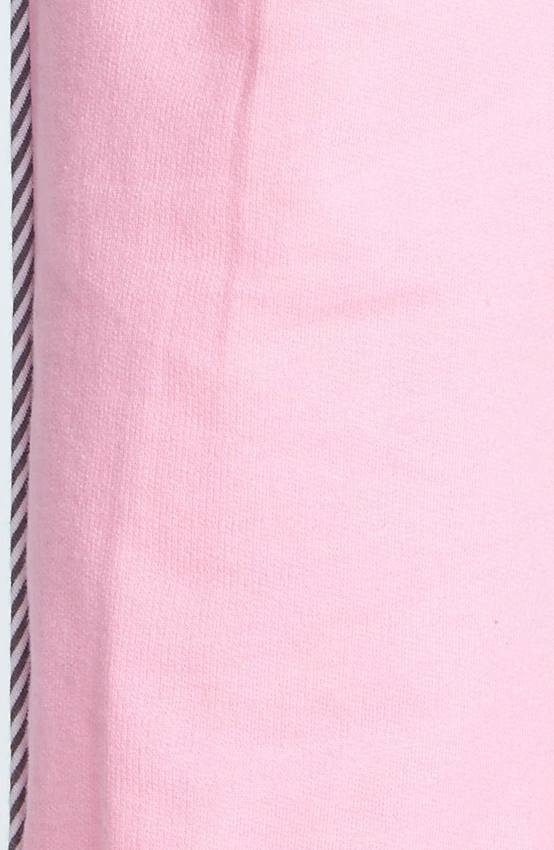 Alternate Image 4  - kensie 'Rosy Outlook' French Terry Ankle Pajama Pants