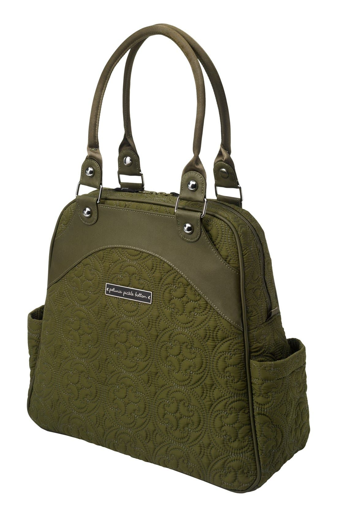 Alternate Image 1 Selected - Petunia Pickle Bottom 'Embossed Sashay Satchel' Diaper Bag