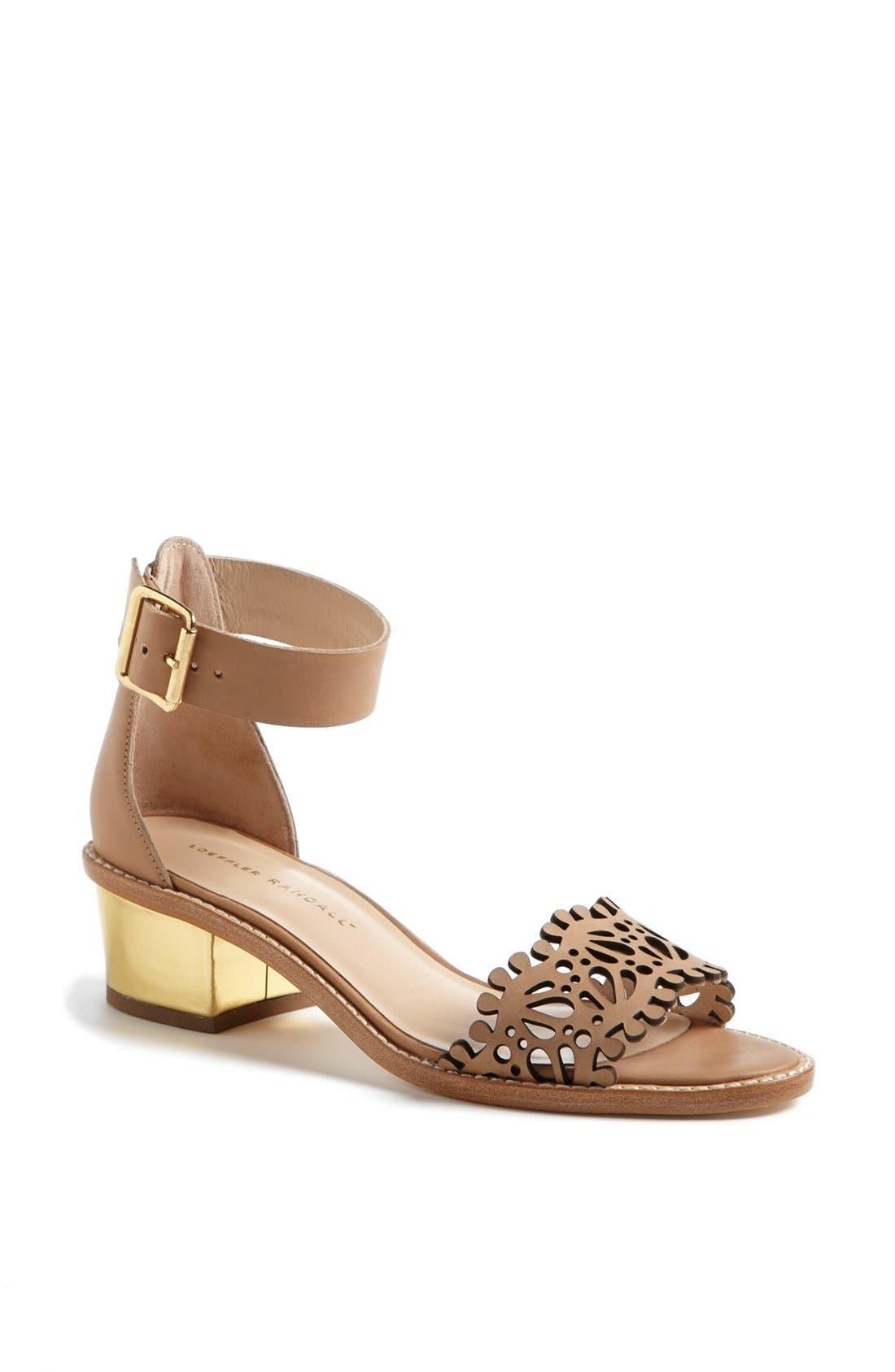 Main Image - Loeffler Randall 'Hopie' Ankle Strap Sandal (Online Only)