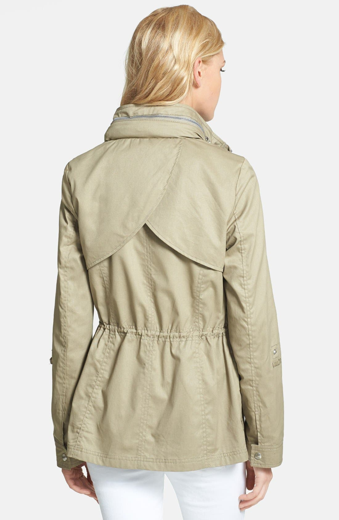 Alternate Image 2  - Sam Edelman Cotton Roll-Sleeve Anorak