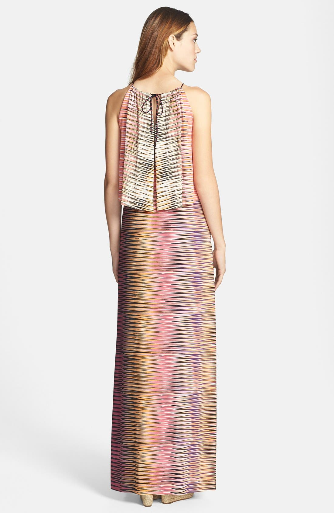 Alternate Image 2  - Tbags Los Angeles Print Maxi Dress
