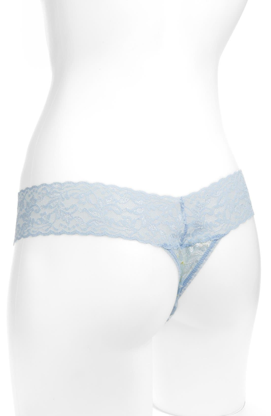 Alternate Image 2  - Hanky Panky 'Bella Blue Enchanted' Thong