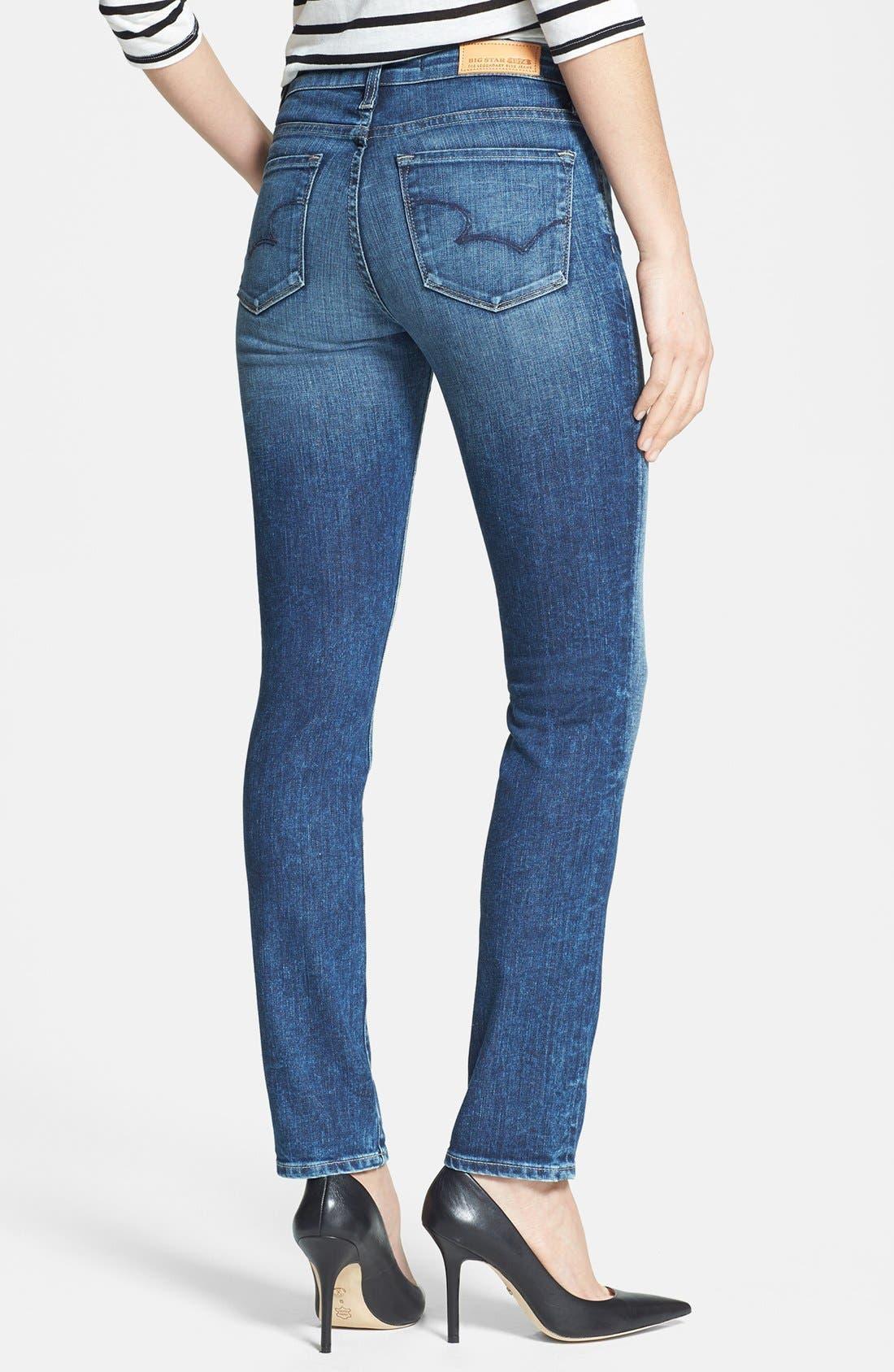 Alternate Image 2  - Big Star 'Bridgett' Slim Fit Straight Leg Jeans (10 Year Ocean)