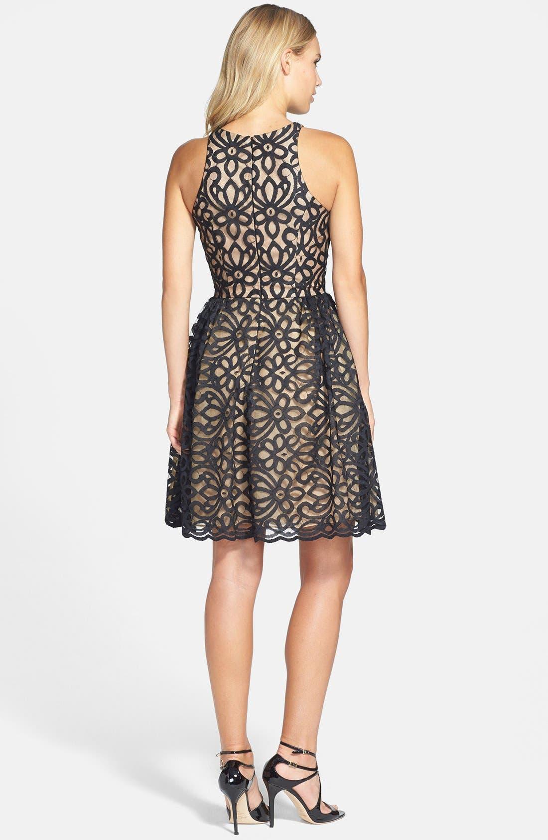 Alternate Image 2  - ML Monique Lhuillier Bridesmaids Lace Fit & Flare Dress