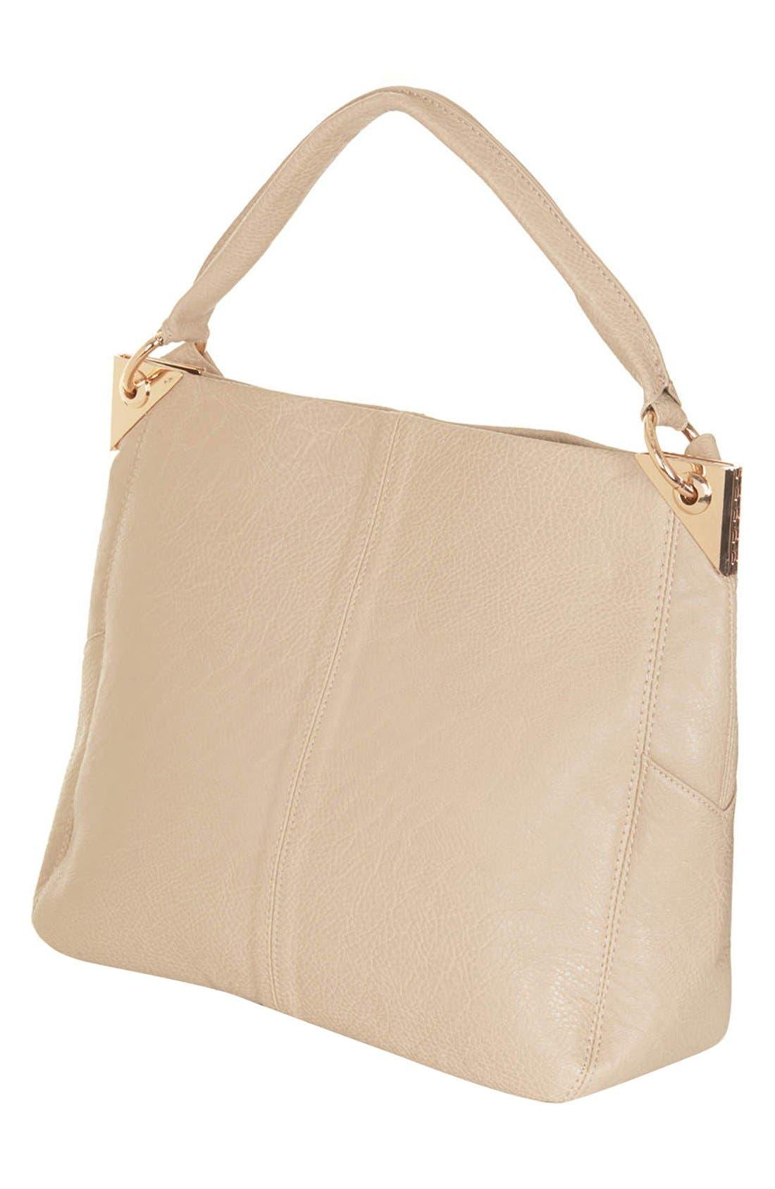 Alternate Image 4  - Topshop Faux Leather Hobo Bag