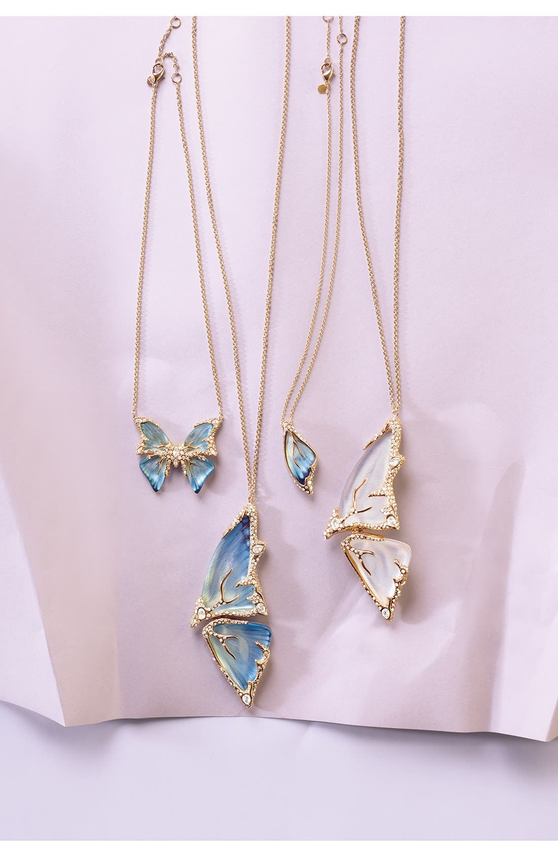 Alternate Image 3  - Alexis Bittar 'Lucite® - Jardin Mystère' Butterfly Wing Pendant Necklace