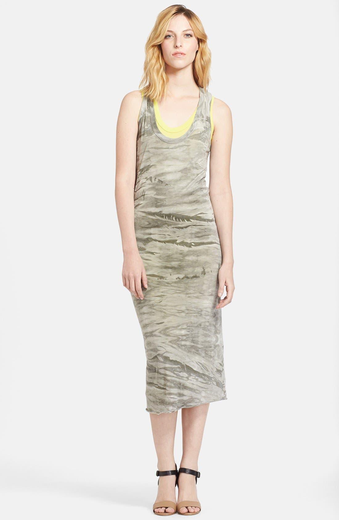 Alternate Image 1 Selected - Enza Costa Double Layer Midi Tank Dress