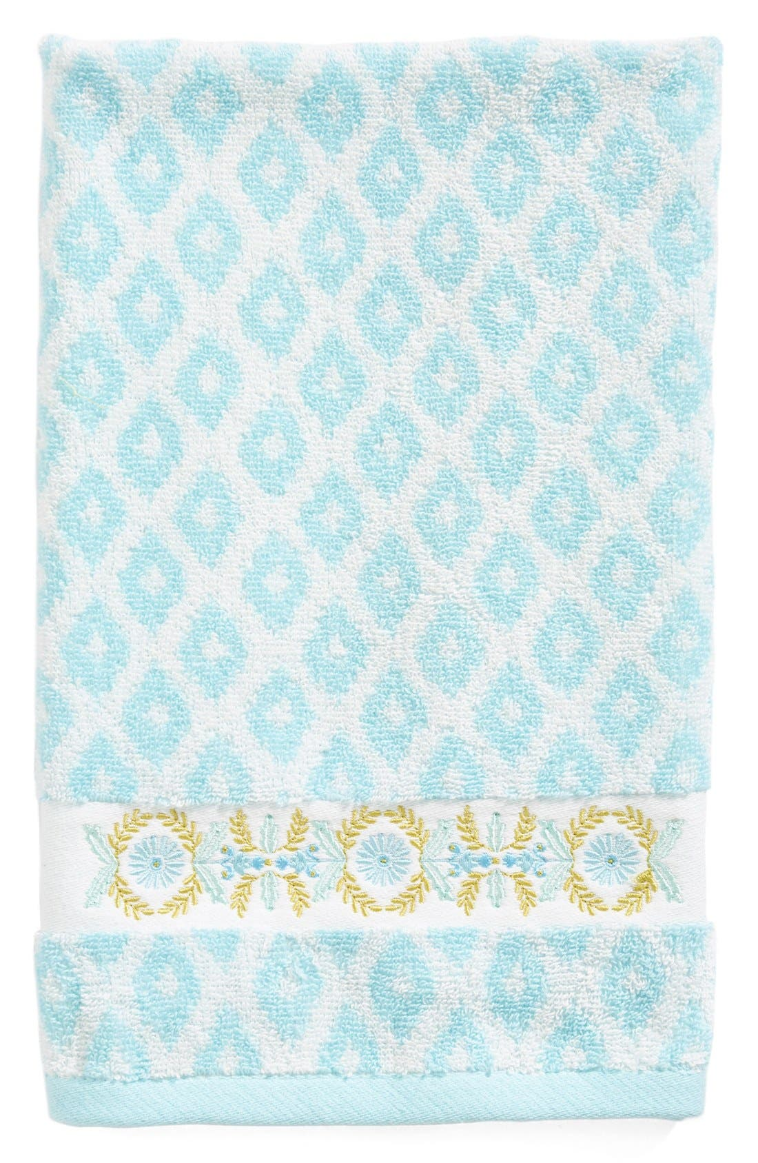 Alternate Image 1 Selected - Dena Home Diamond Jacquard Bath Towel