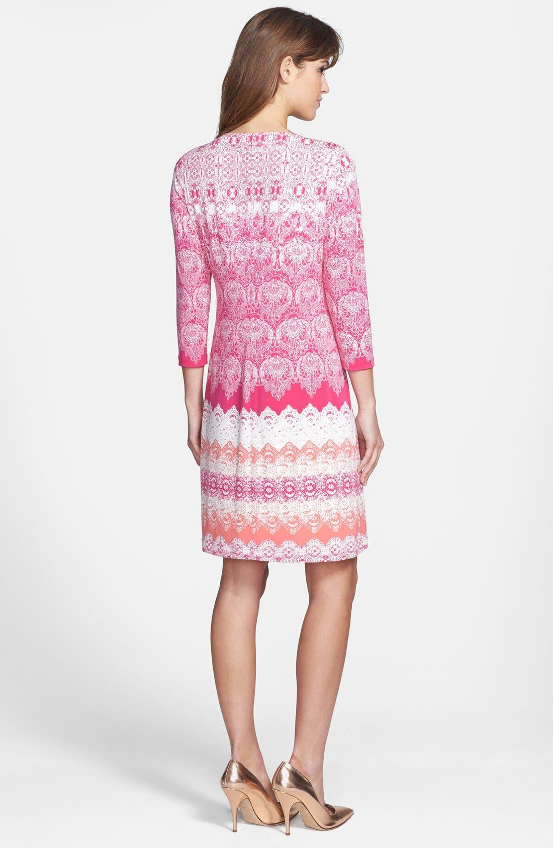 Alternate Image 2  - Donna Morgan Lace Print Shift Dress