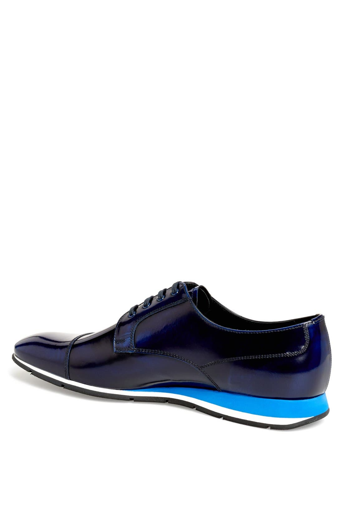 Cap Toe Derby,                             Alternate thumbnail 2, color,                             Cobalt Blue