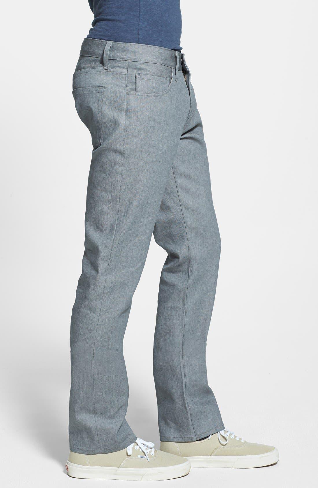 Alternate Image 3  - J Brand 'Kane' Slim Fit Jeans (Stretch Raw Silver)