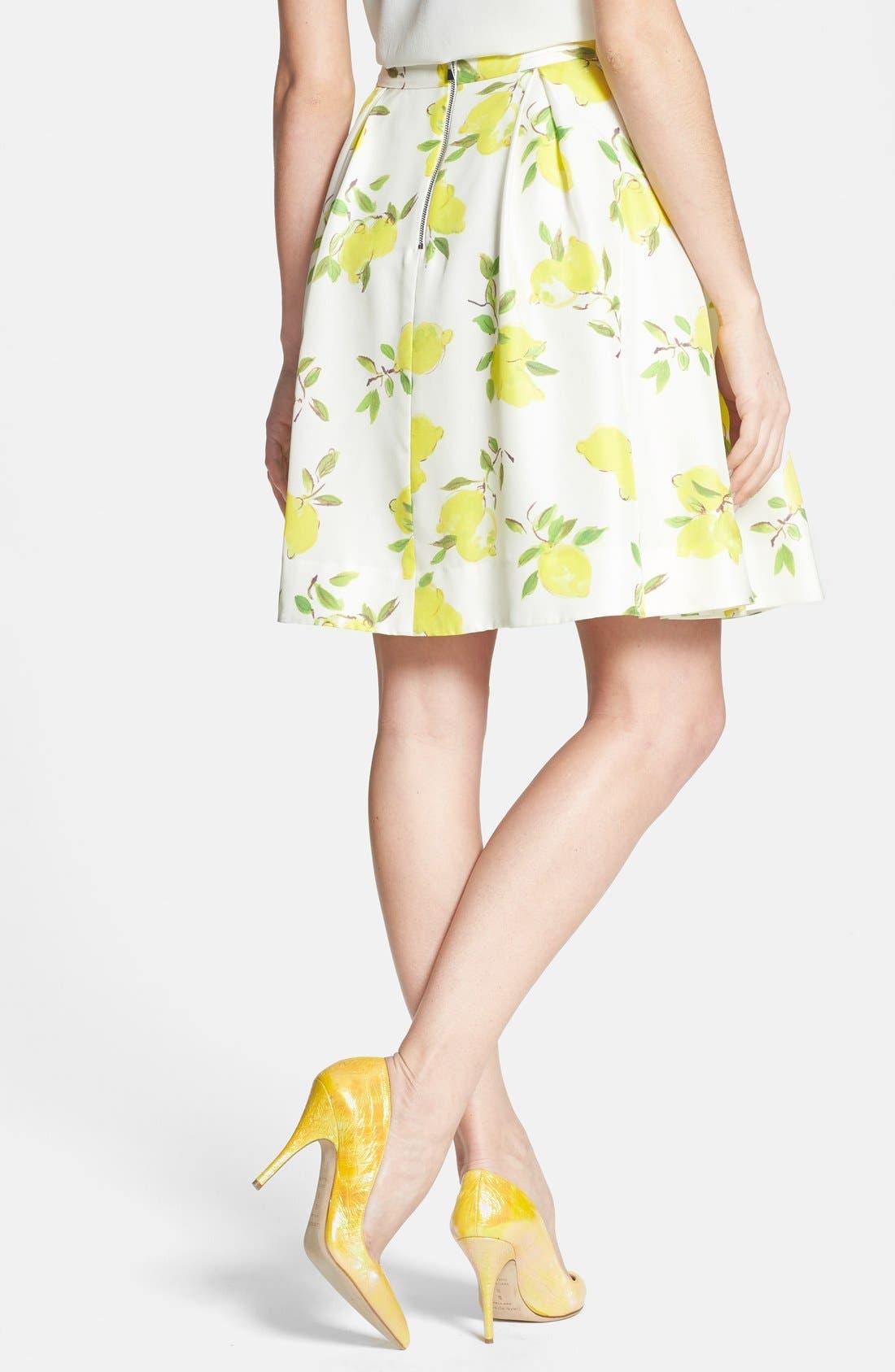 Alternate Image 2  - kate spade new york 'owen' print silk skirt