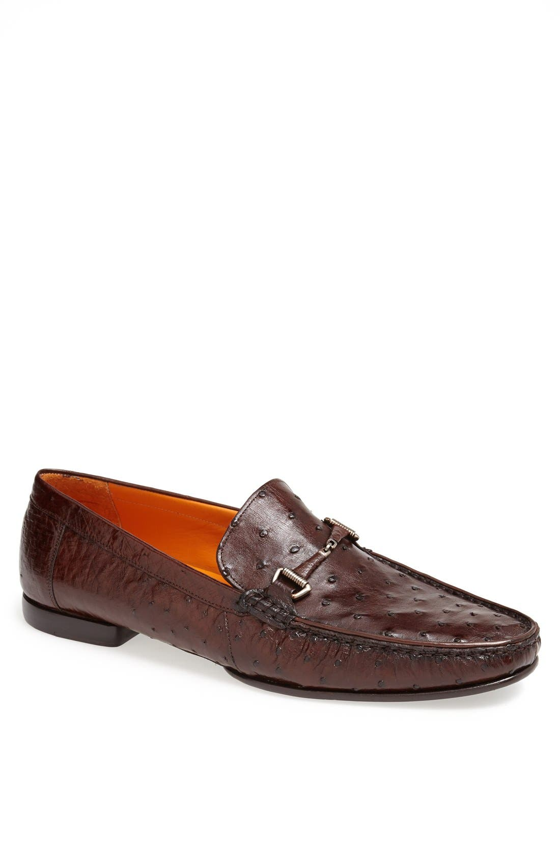 MEZLAN Vittorio Ostrich Leather Bit Loafer