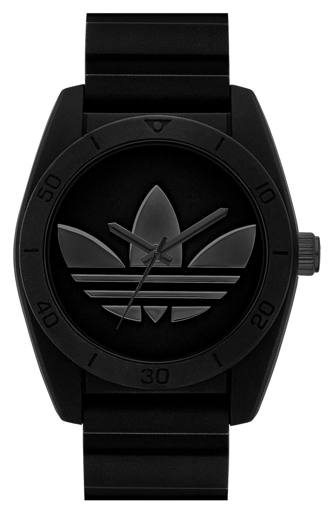 Alternate Image 1 Selected - adidas Originals 'Santiago' Silicone Strap Watch, 42mm