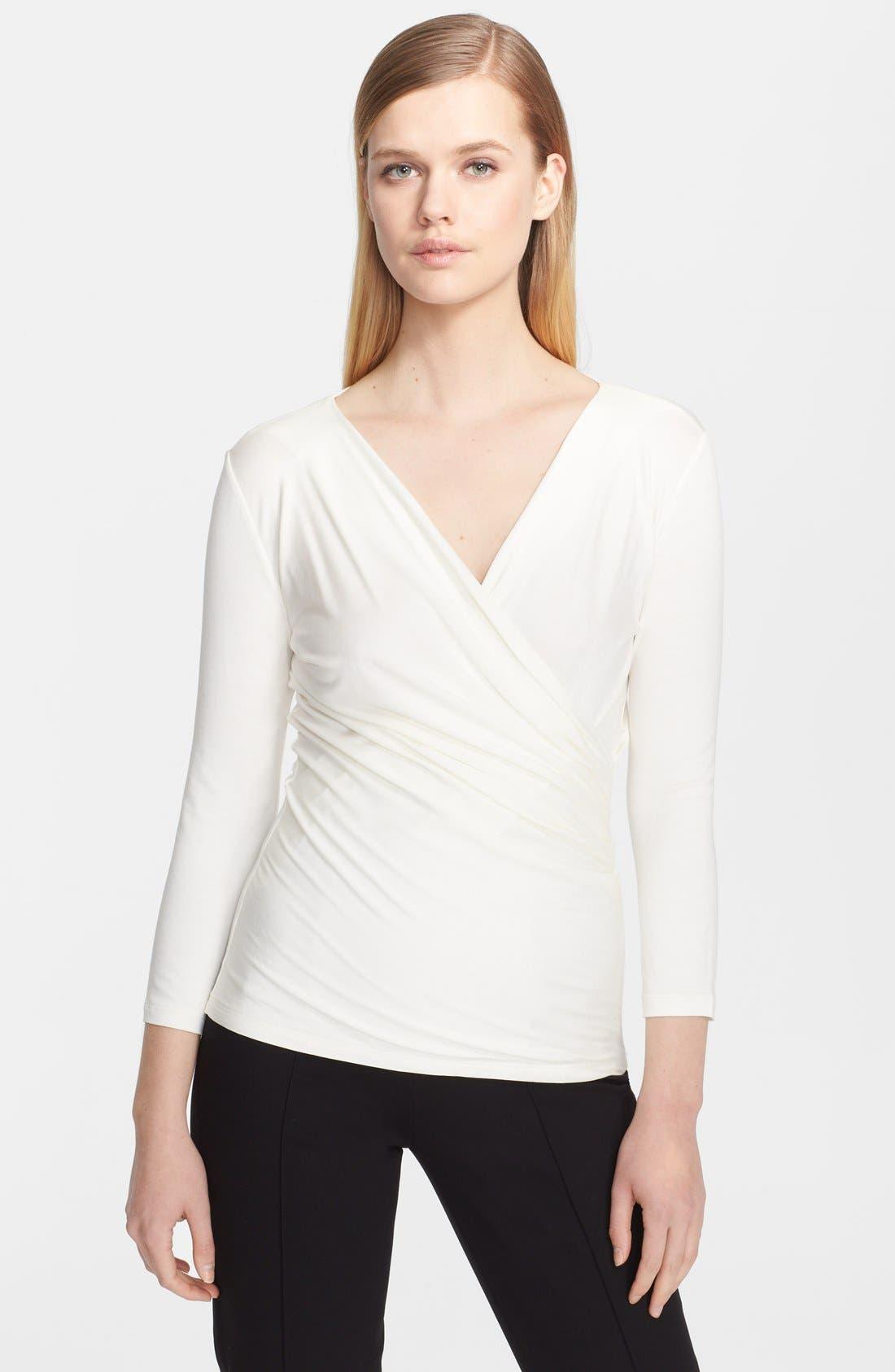 Alternate Image 1 Selected - Max Mara 'Caprice' Surplice Jersey Top