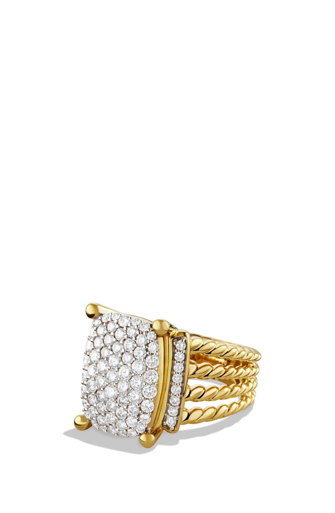 'Wheaton' Ring with Diamonds in Gold,                         Main,                         color, Diamond