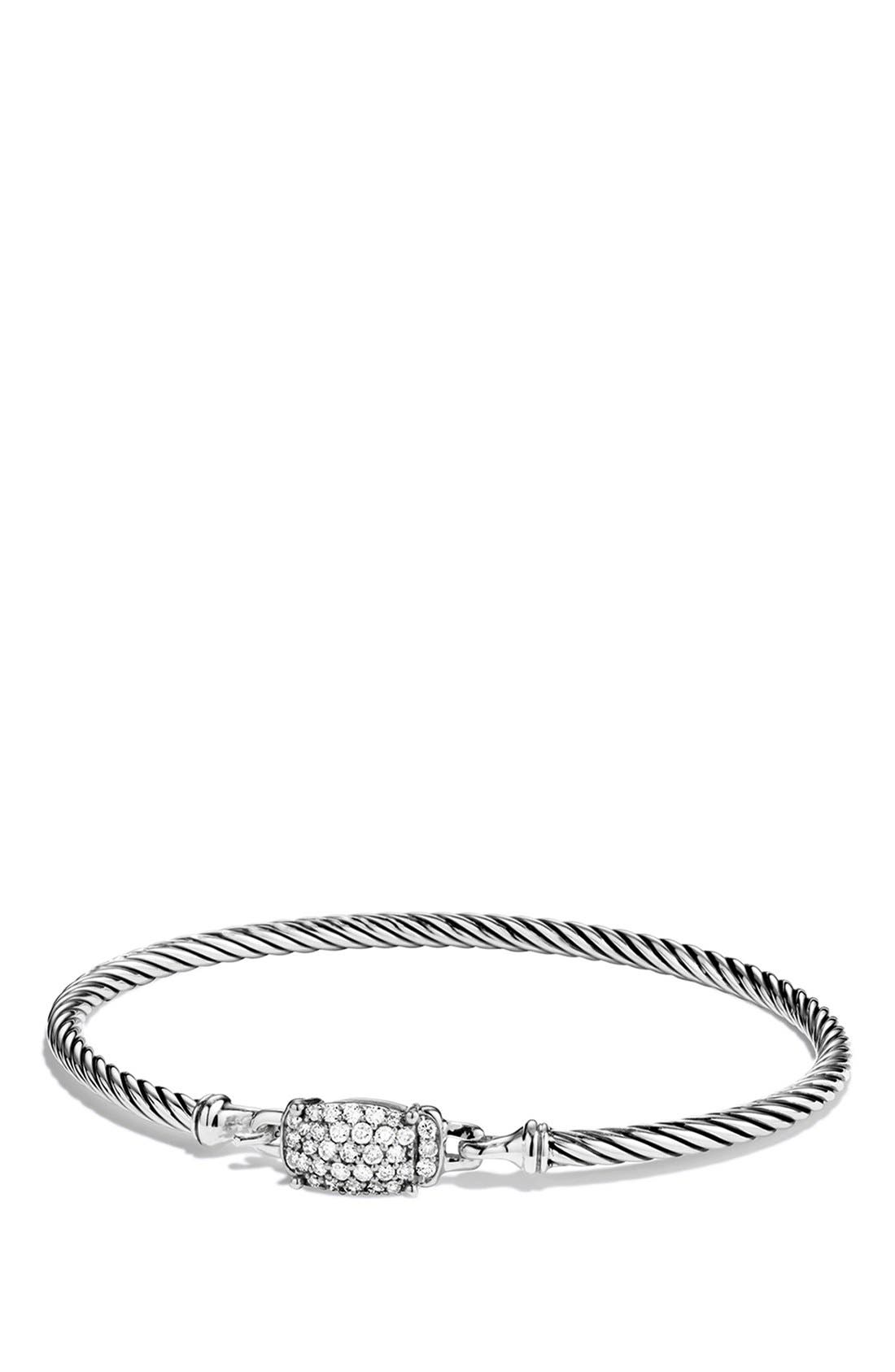 Alternate Image 1 Selected - David Yurman 'Petite Wheaton' Bracelet with Diamonds