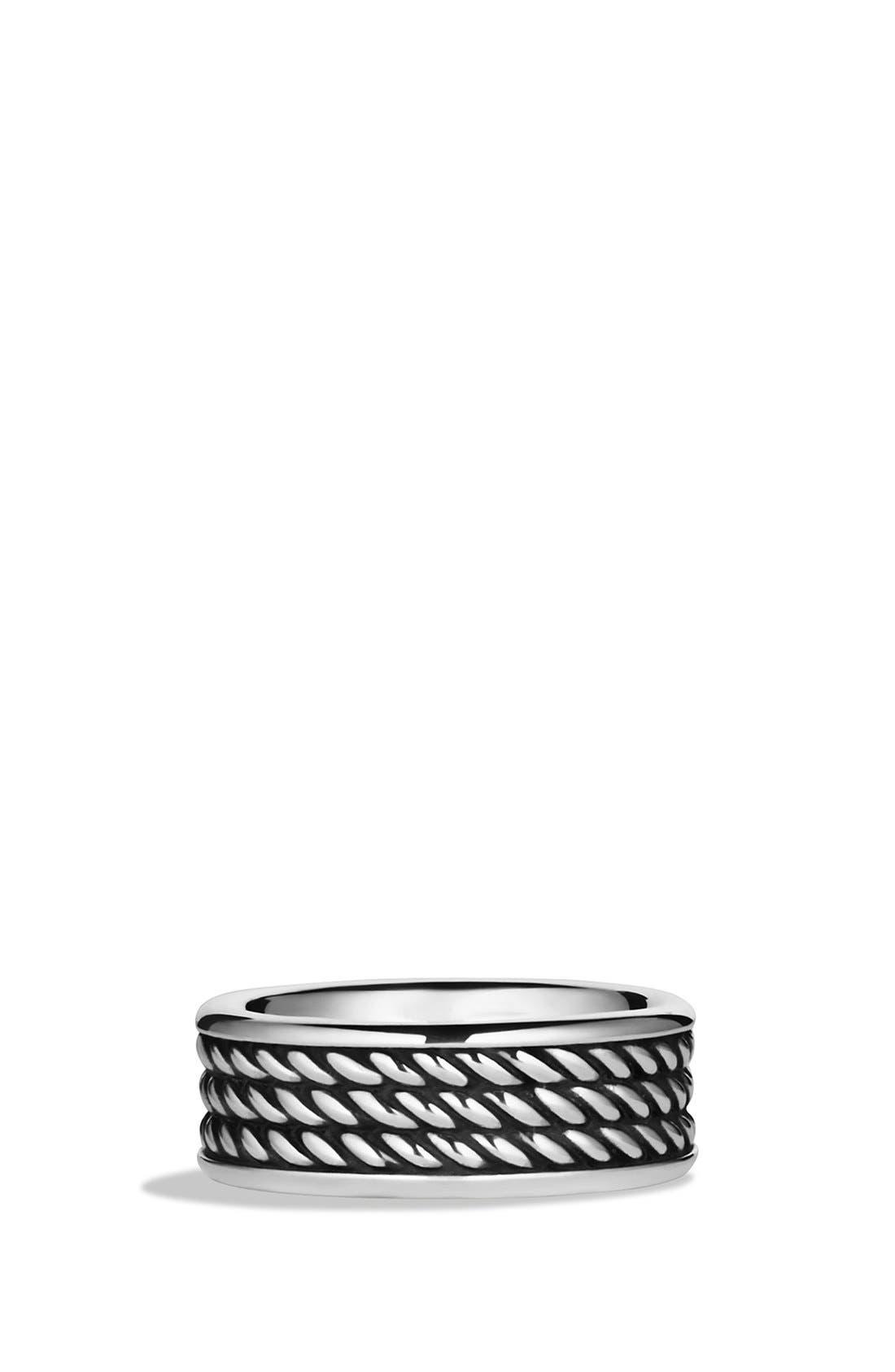 'Maritime' Rope Band Ring,                             Main thumbnail 1, color,                             Silver