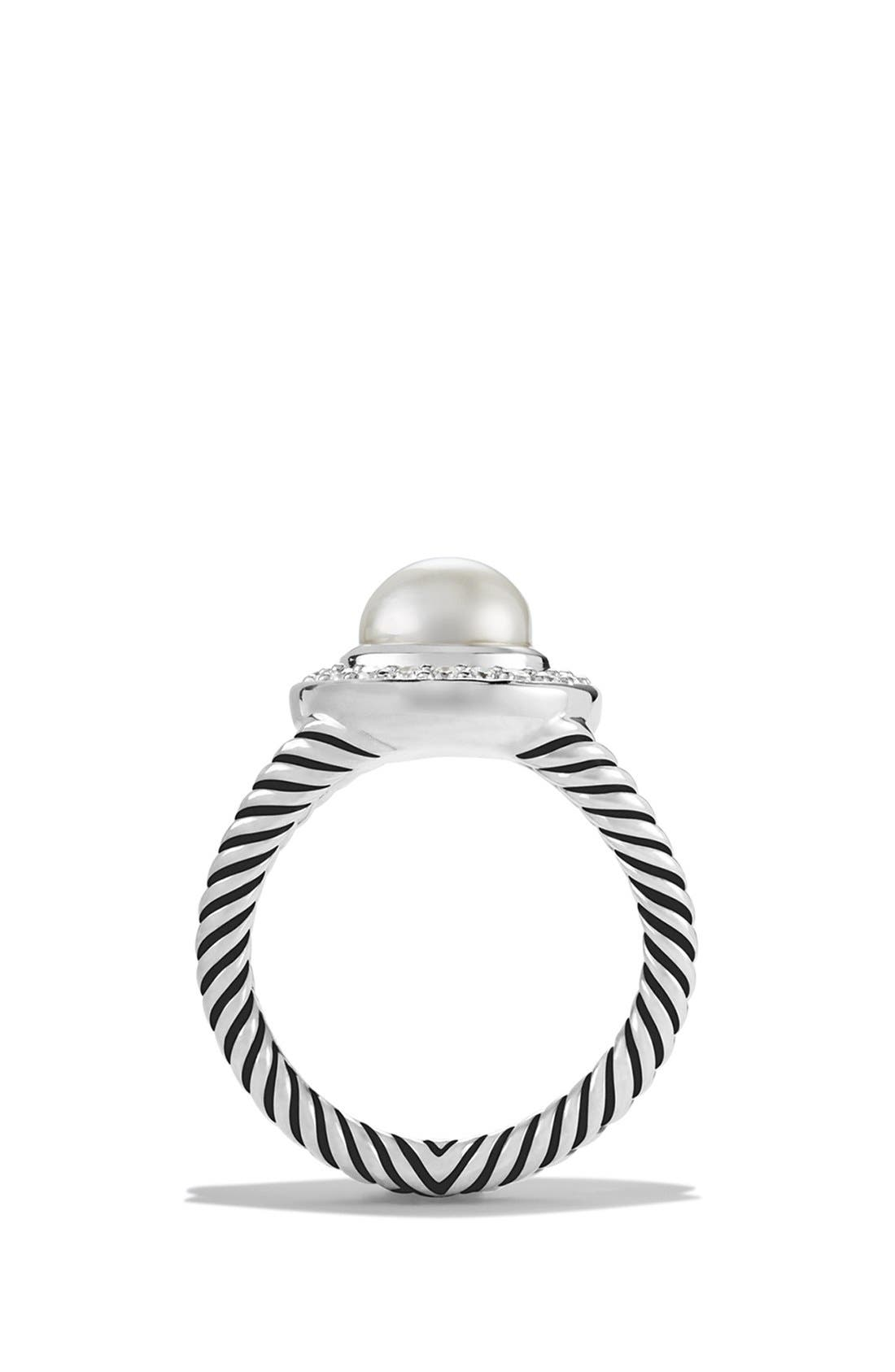 Alternate Image 2  - David Yurman 'Petite Cerise' Ring with Pearl and Diamonds