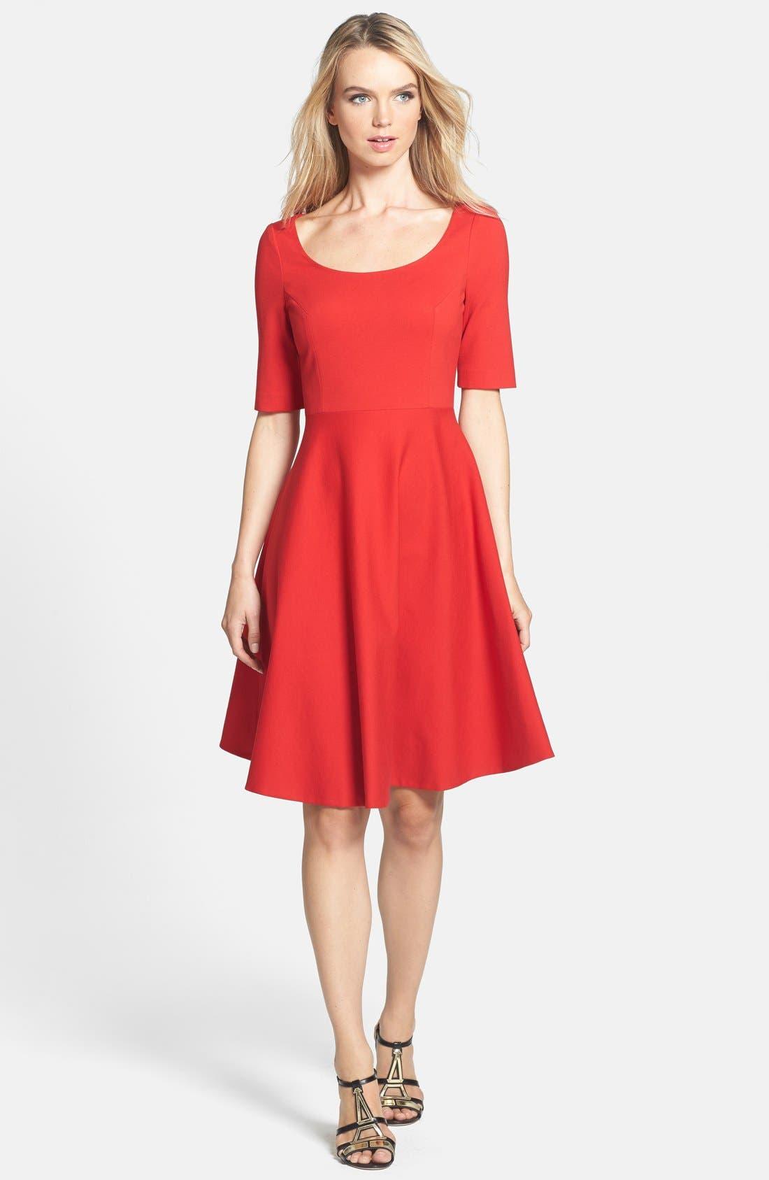 Main Image - kate spade new york 'jada' stretch fit & flare dress