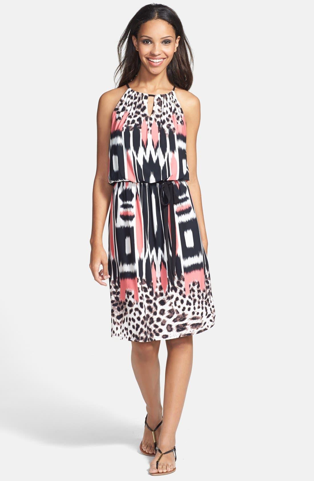 Alternate Image 3  - Maggy London Print Blouson Jersey Dress