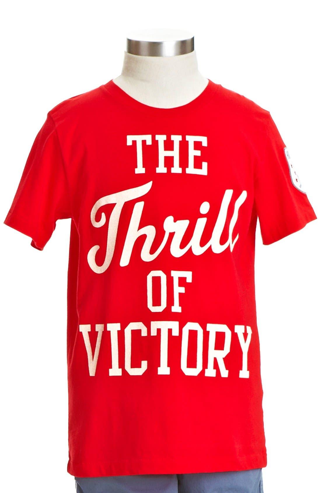 Alternate Image 1 Selected - Peek 'Thrill of Victory' T-Shirt (Toddler Boys, Little Boys & Big Boys)