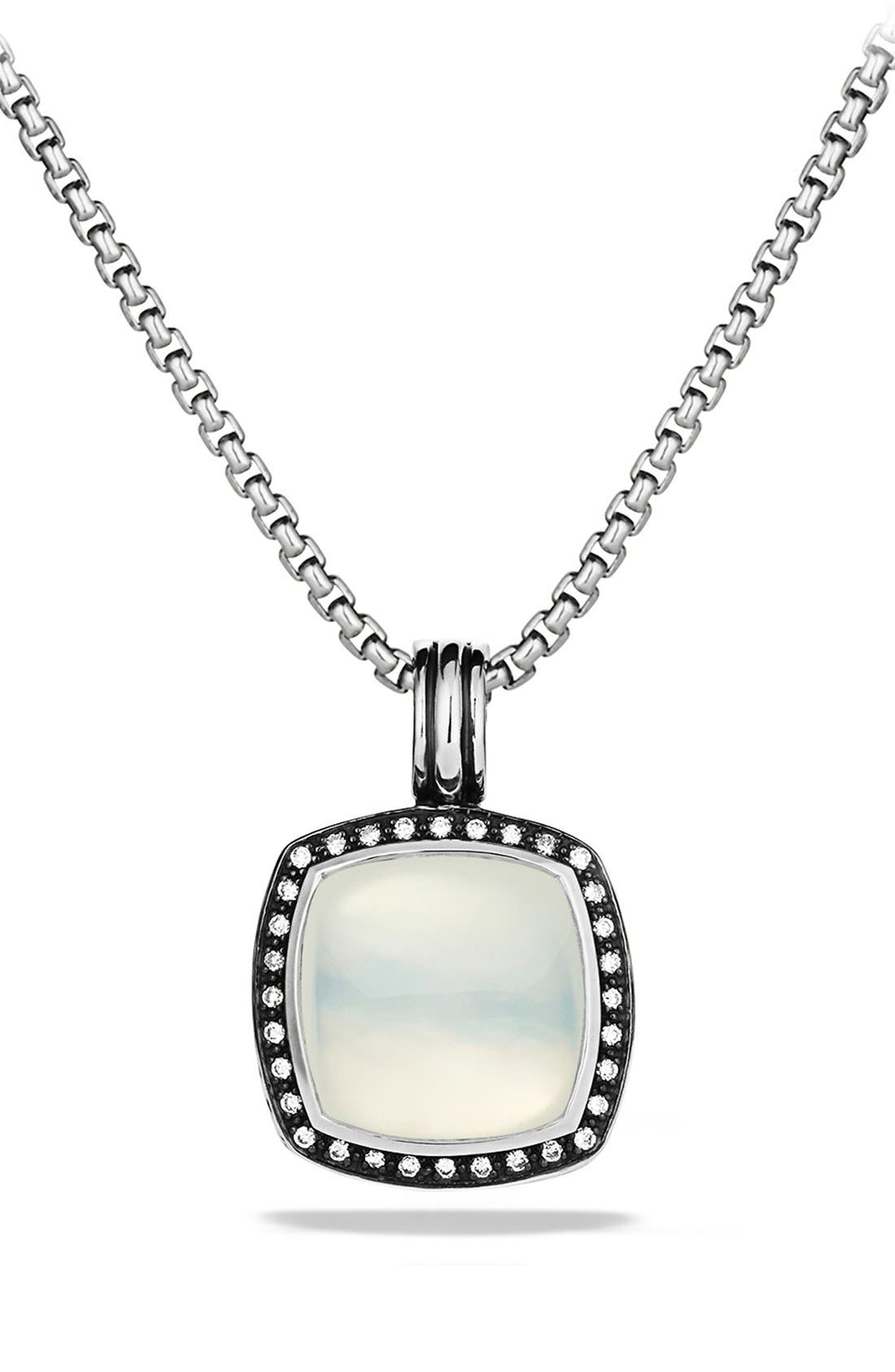 Alternate Image 1 Selected - David Yurman 'Albion' Pendant with Moon Quartz and Diamonds