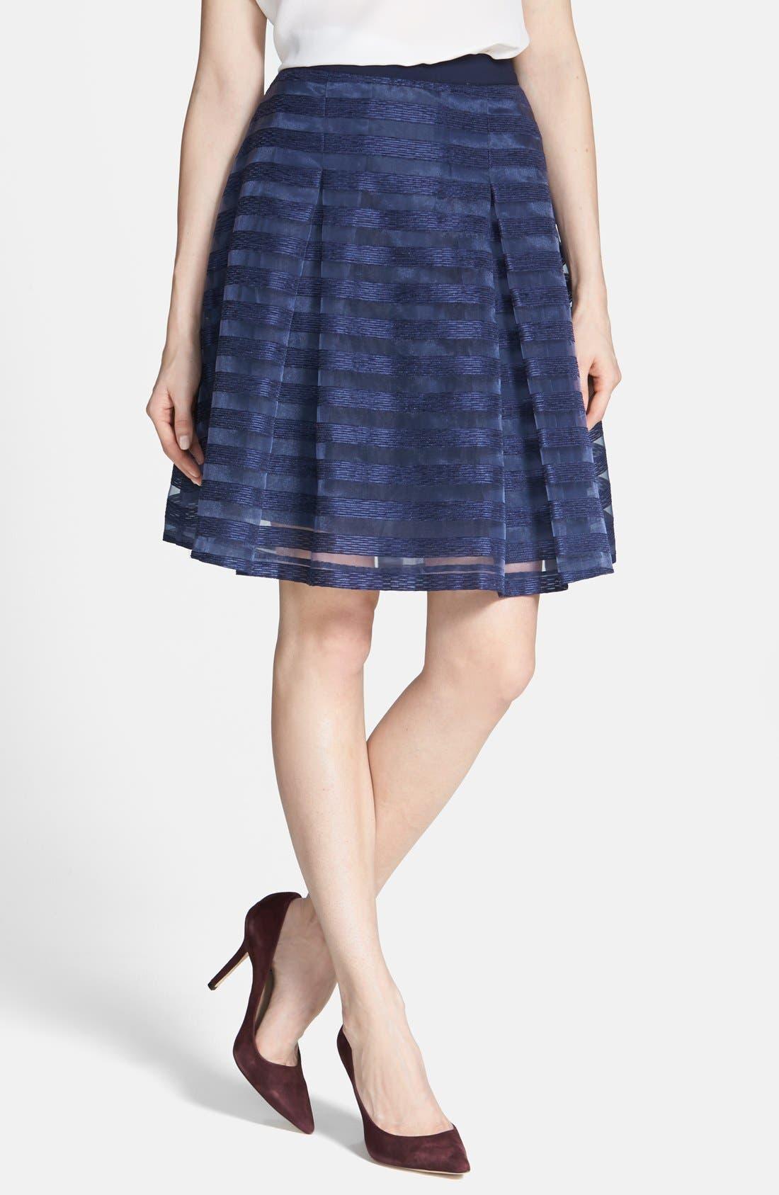 Main Image - 1.STATE Organza Stripe Skirt