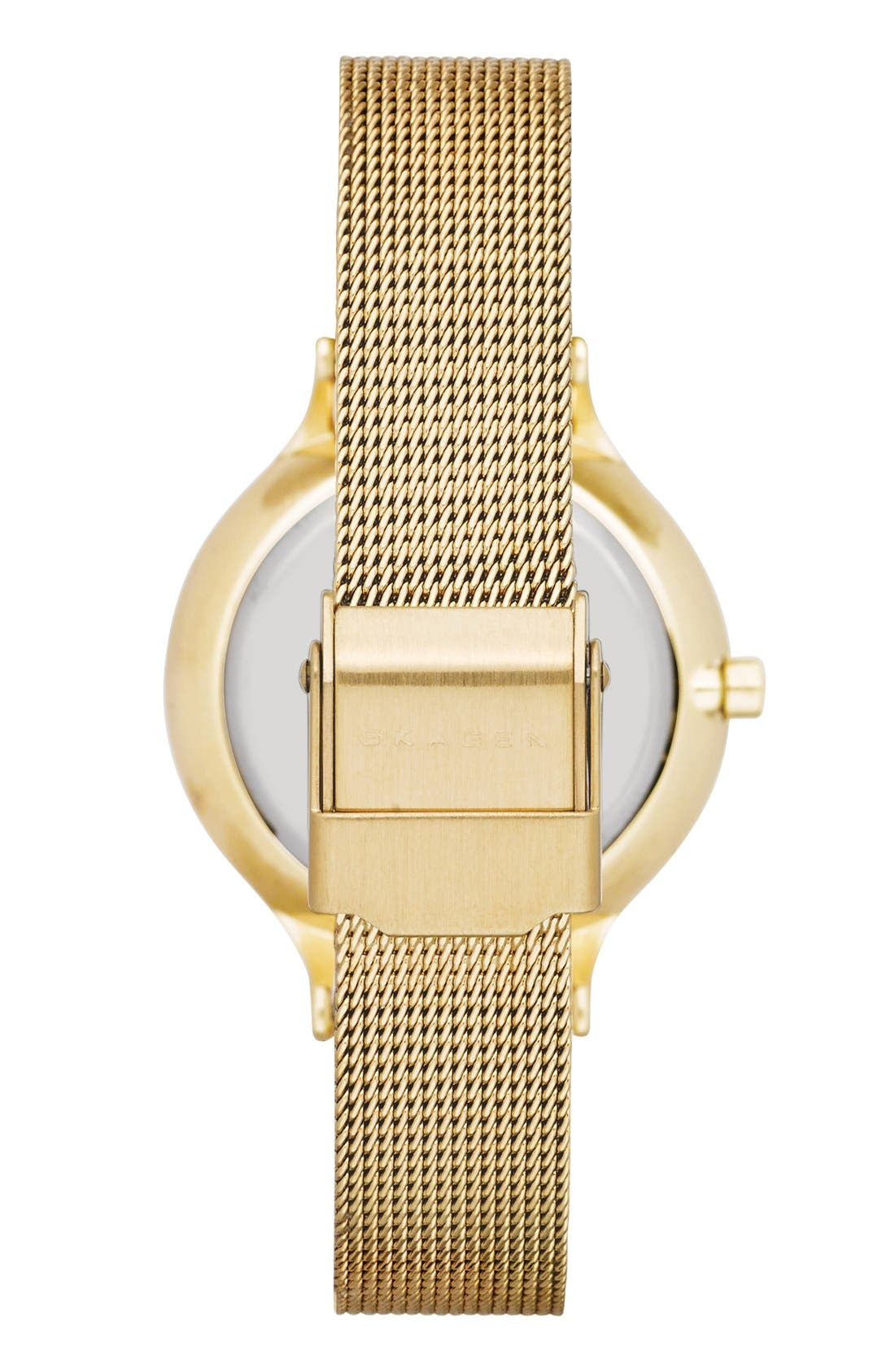Alternate Image 2  - Skagen 'Anita' Crystal Index Mesh Strap Watch, 30mm