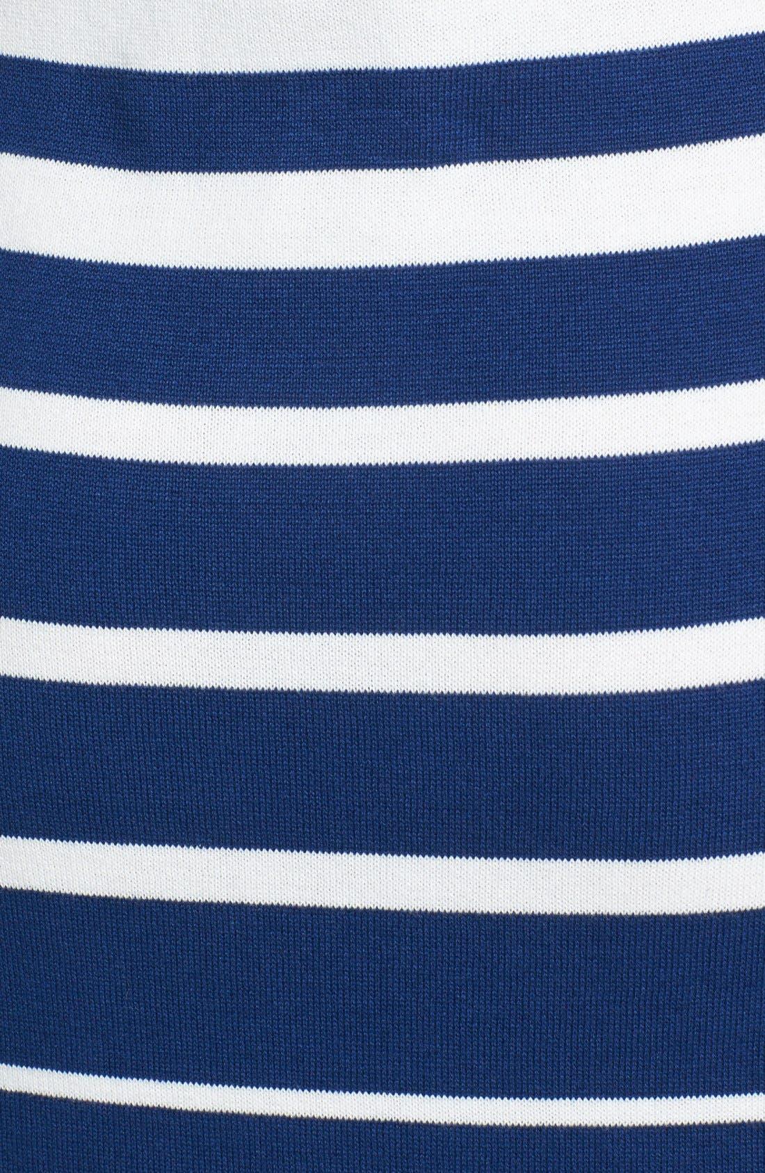 Alternate Image 4  - Trina Trina Turk 'Olive' Stripe Sweater Dress