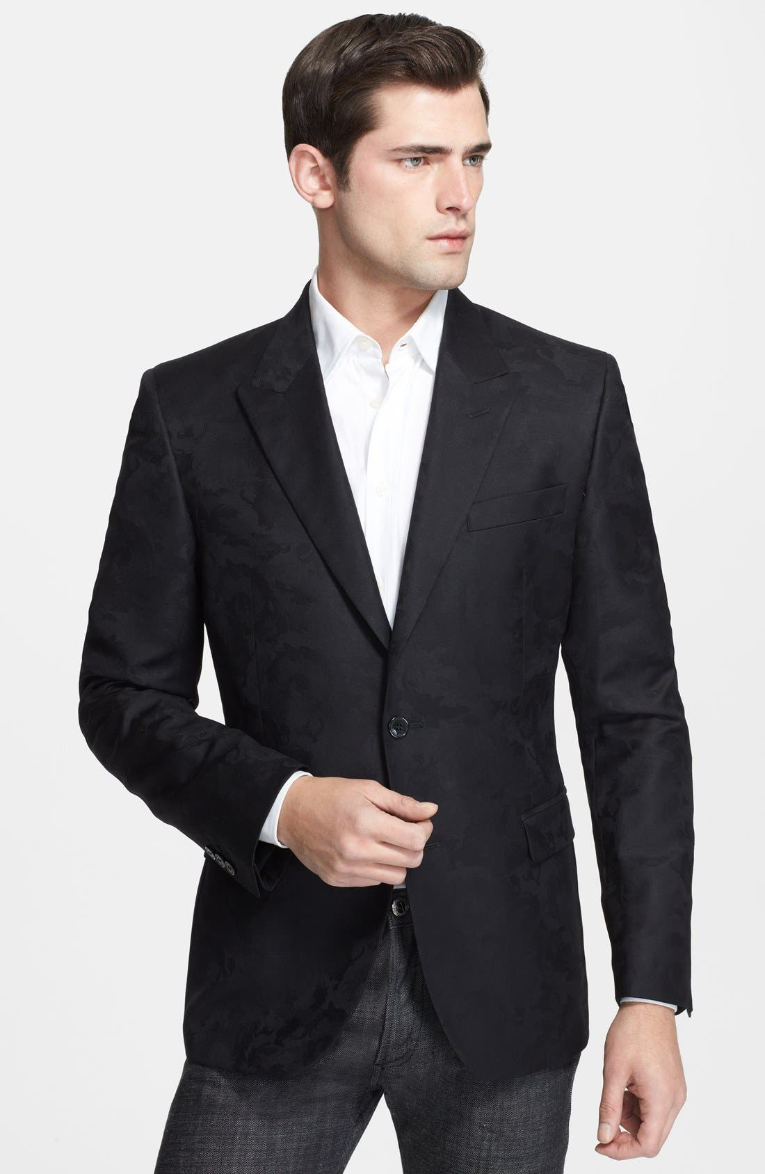 Main Image - Versace Trend Fit Jacquard Wool Blend Sport Coat