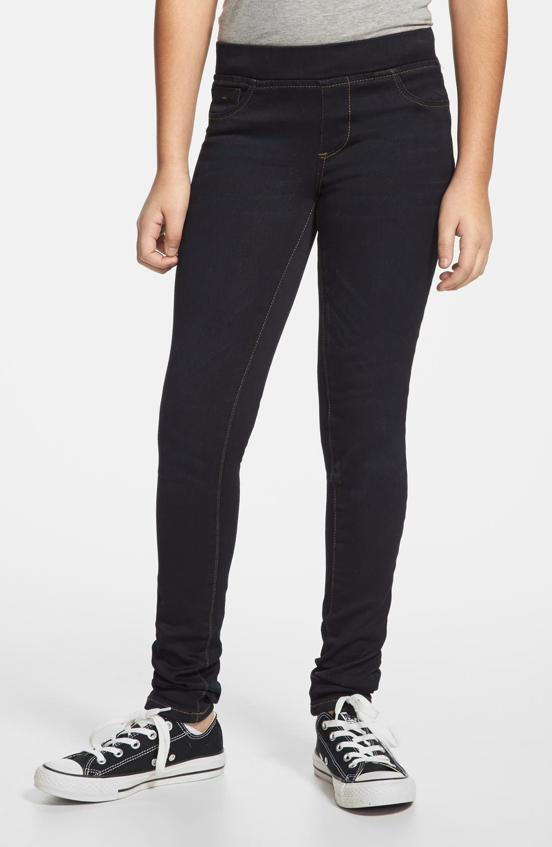Alternate Image 1 Selected - Tractr Pull-On Skinny Jeans (Big Girls)