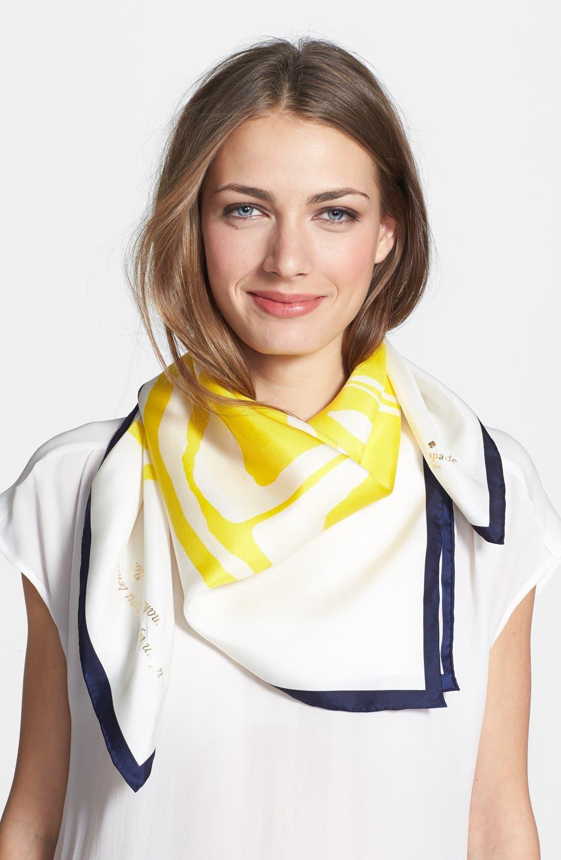 Alternate Image 1 Selected - kate spade new york 'lemon slice' silk scarf