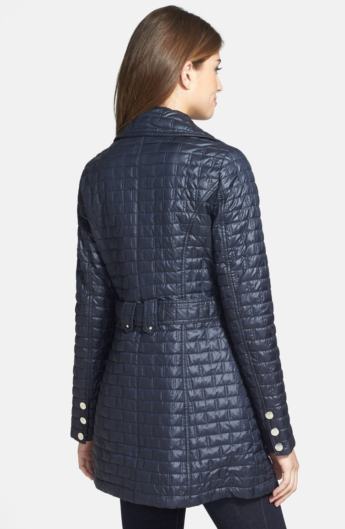 Alternate Image 2  - Laundry by Shelli Segal Belted Quilted Trench Coat