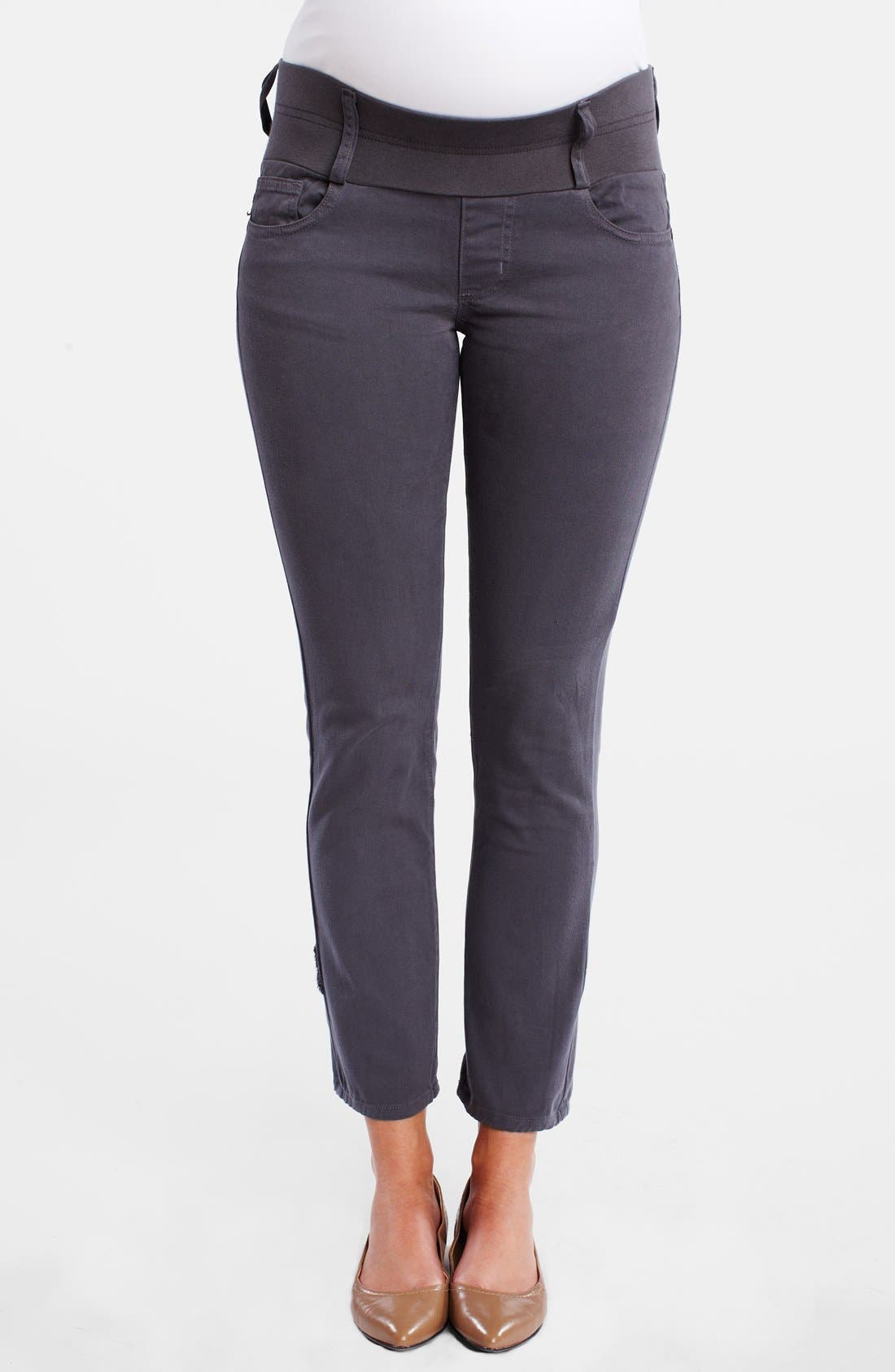 Maternity Skinny Ankle Stretch Jeans,                         Main,                         color, Cement Grey