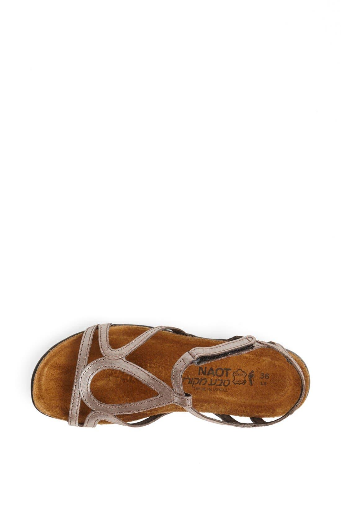 'Dorith' Sandal,                             Alternate thumbnail 3, color,                             Silver Threads Leather