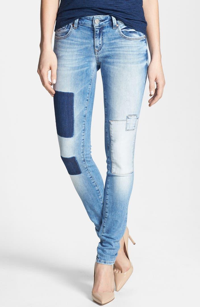 mavi jeans 39 serena 39 ankle super skinny jeans light patch. Black Bedroom Furniture Sets. Home Design Ideas