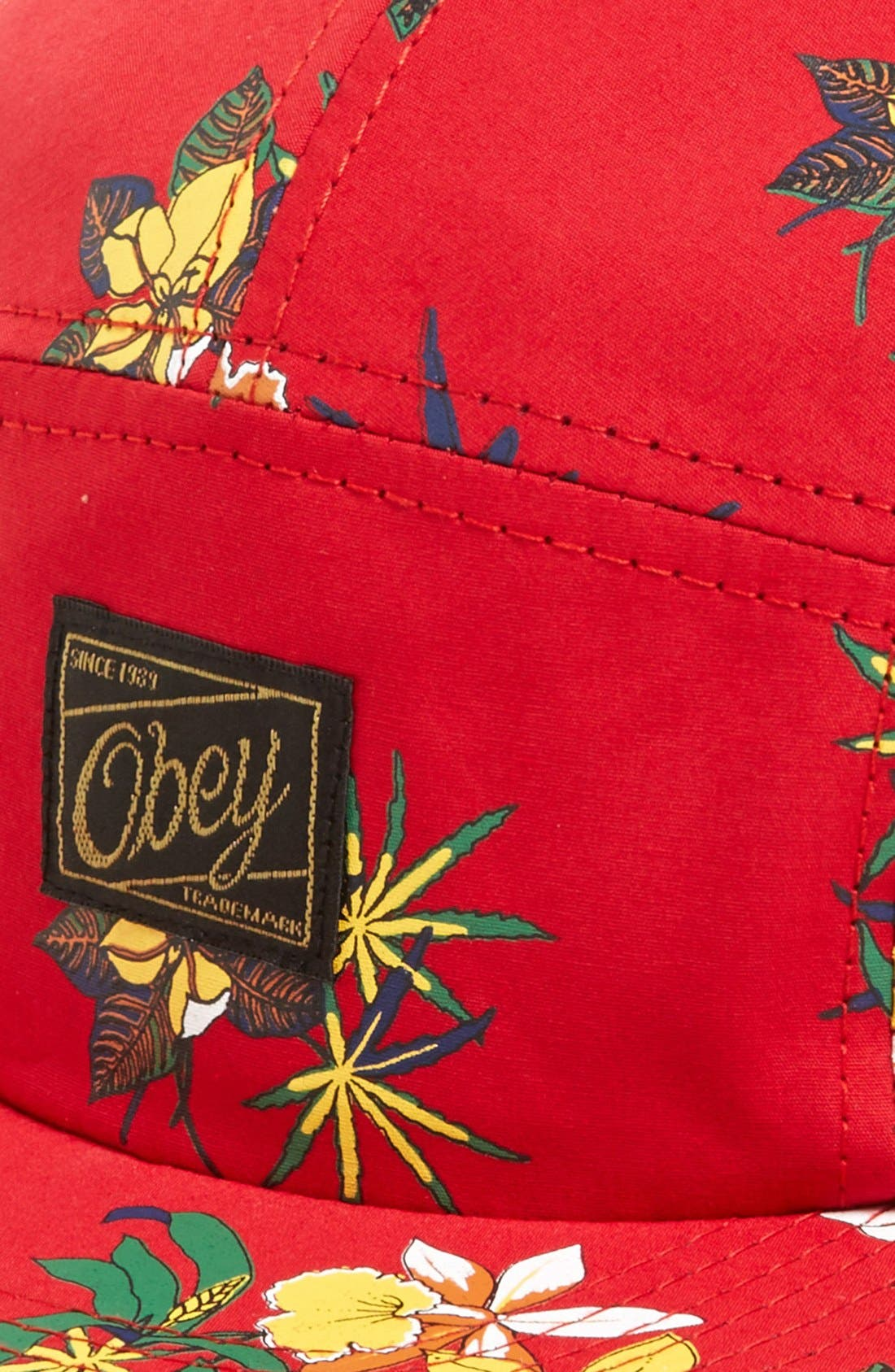 Alternate Image 2  - Obey Floral Print Five-Panel Cap