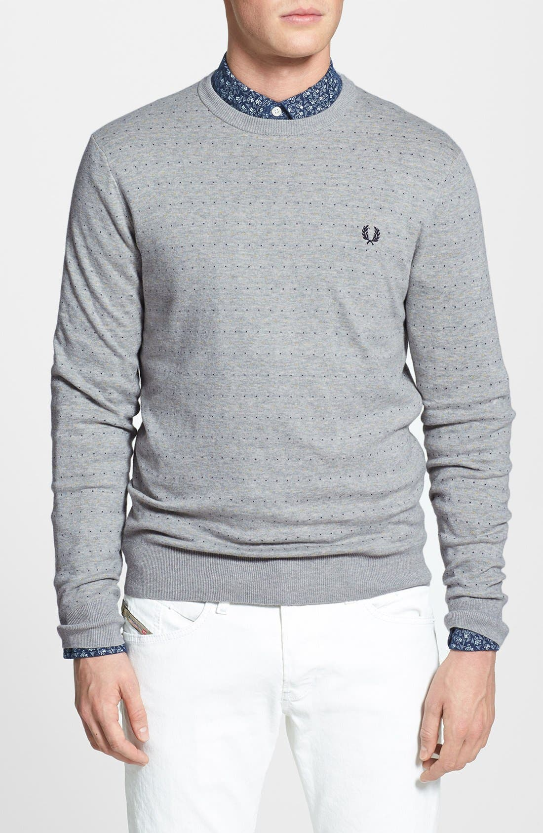 Alternate Image 1 Selected - Fred Perry 'Dot' Crewneck Sweater