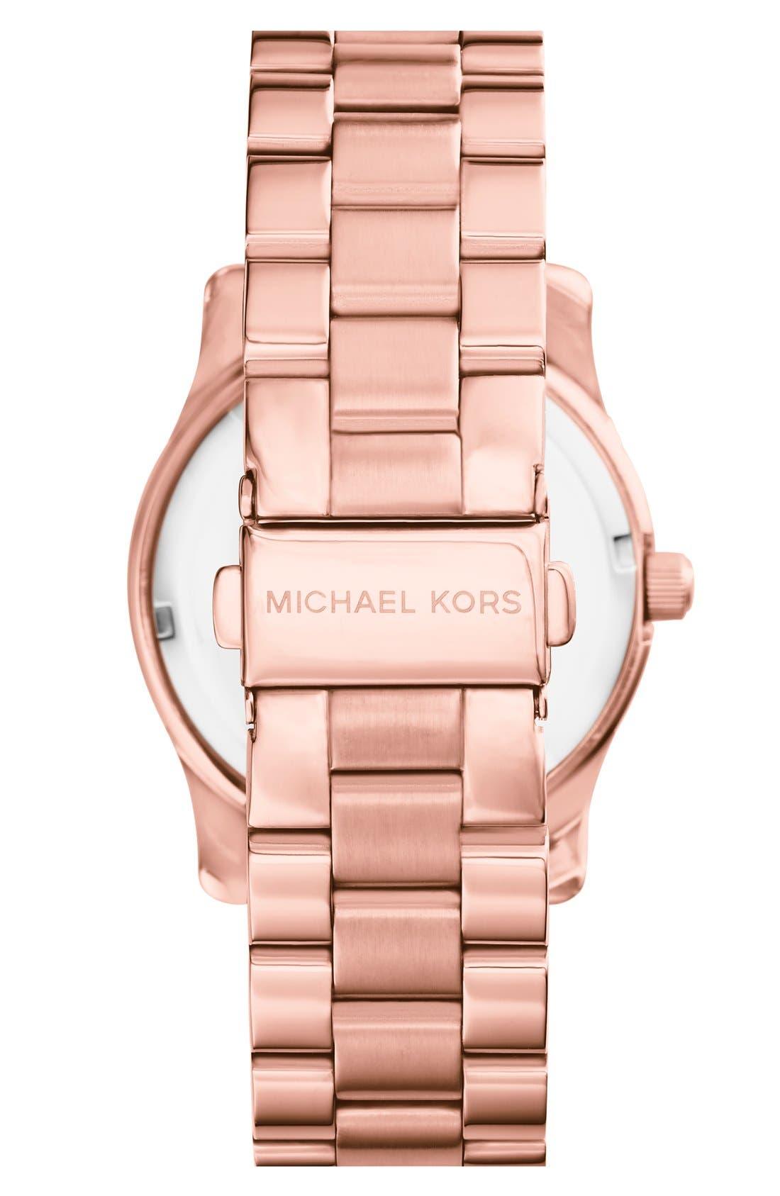 Alternate Image 2  - Michael Kors 'Runway' Round Bracelet Watch, 38mm