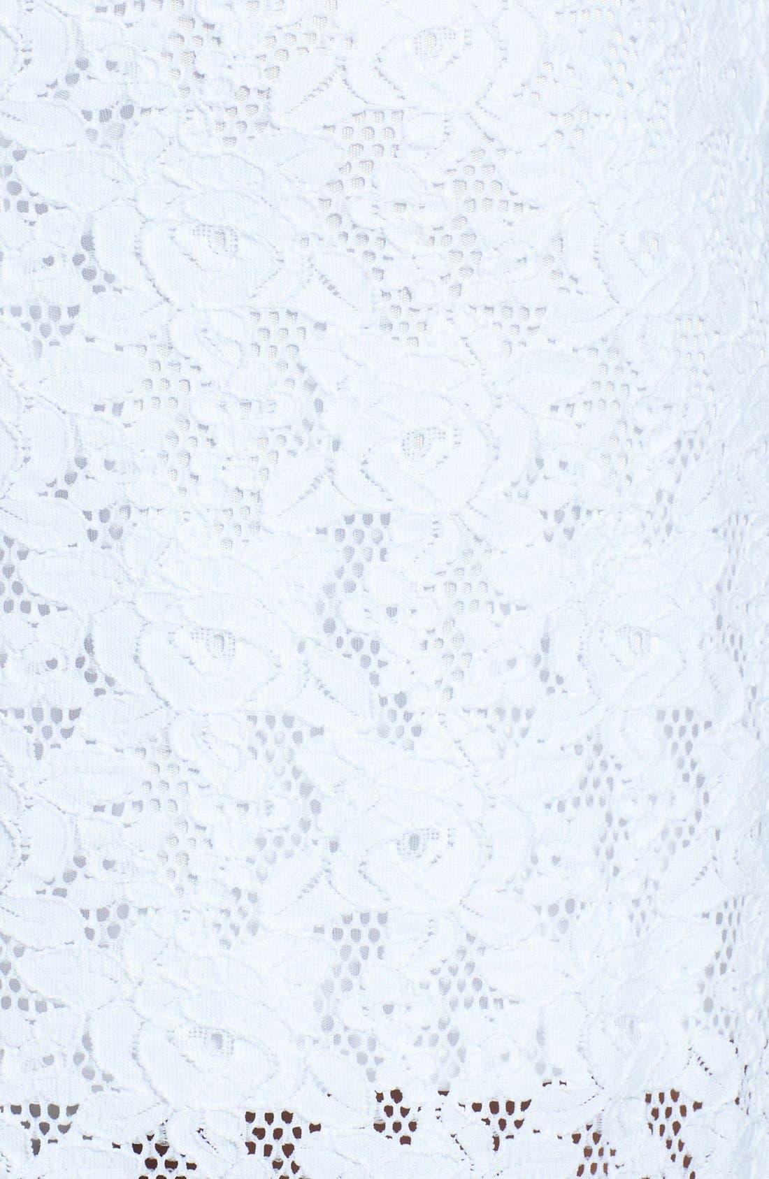 Alternate Image 4  - Laundry by Shelli Segal Back Cutout Lace Shift Dress (Regular & Petite)