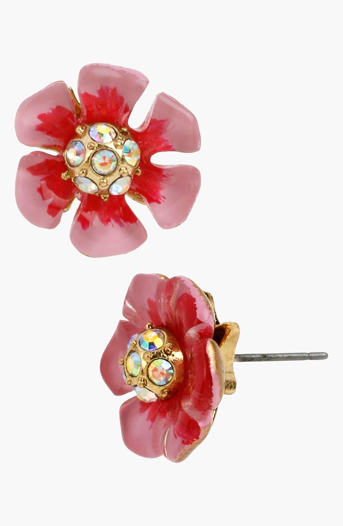 Alternate Image 1 Selected - Betsey Johnson 'Spring Glam' Flower Stud Earrings