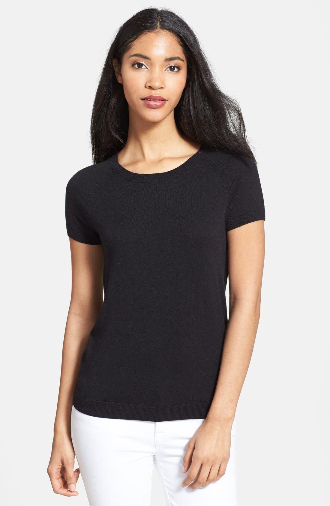 Alternate Image 1 Selected - Halogen® Stripe Raglan Sleeve Sweater (Regular & Petite)